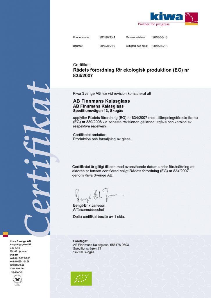 Certifikat_20159733-4_AB_Finnmans_Kalasglass_EU_2016-08-18